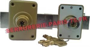 Jeu de verrous Pollux double entrée à pompe s'entrouvrant - Cylindre 40 mm